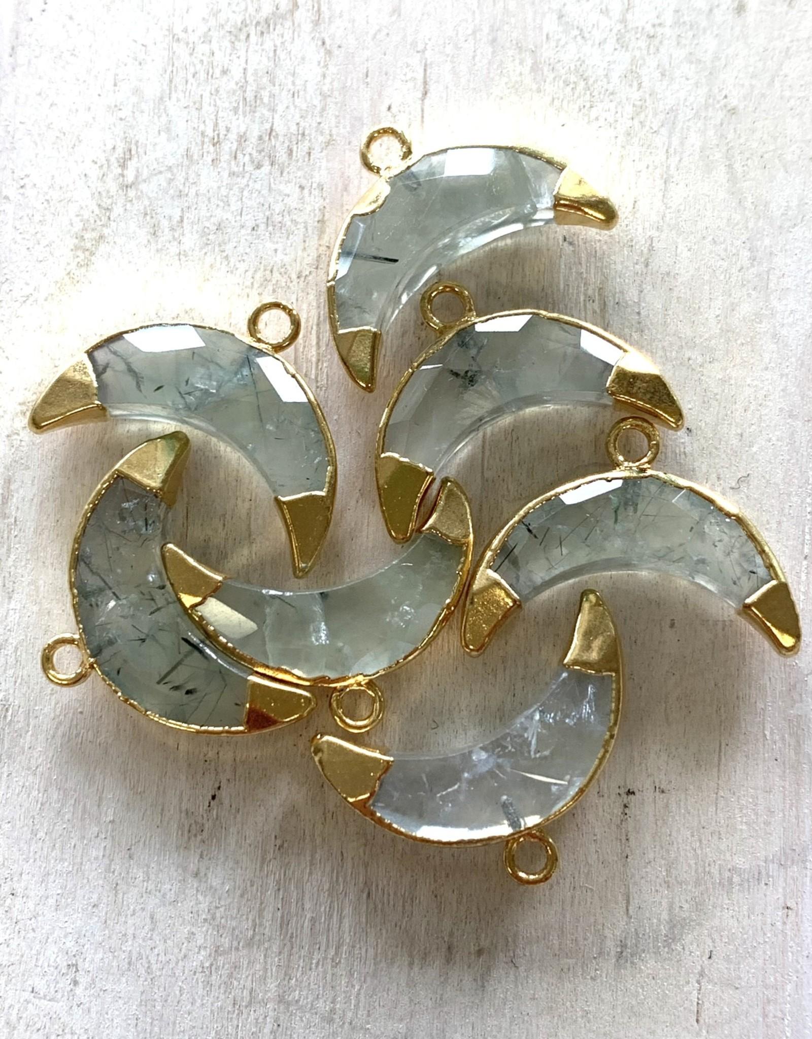 Prehinite Crescents Gold