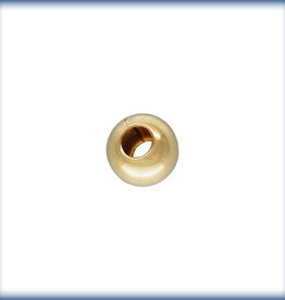 3mm Round Bead 14k Gold FIlled Qty 25