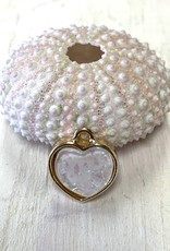Glitter Heart Gold Plated ea