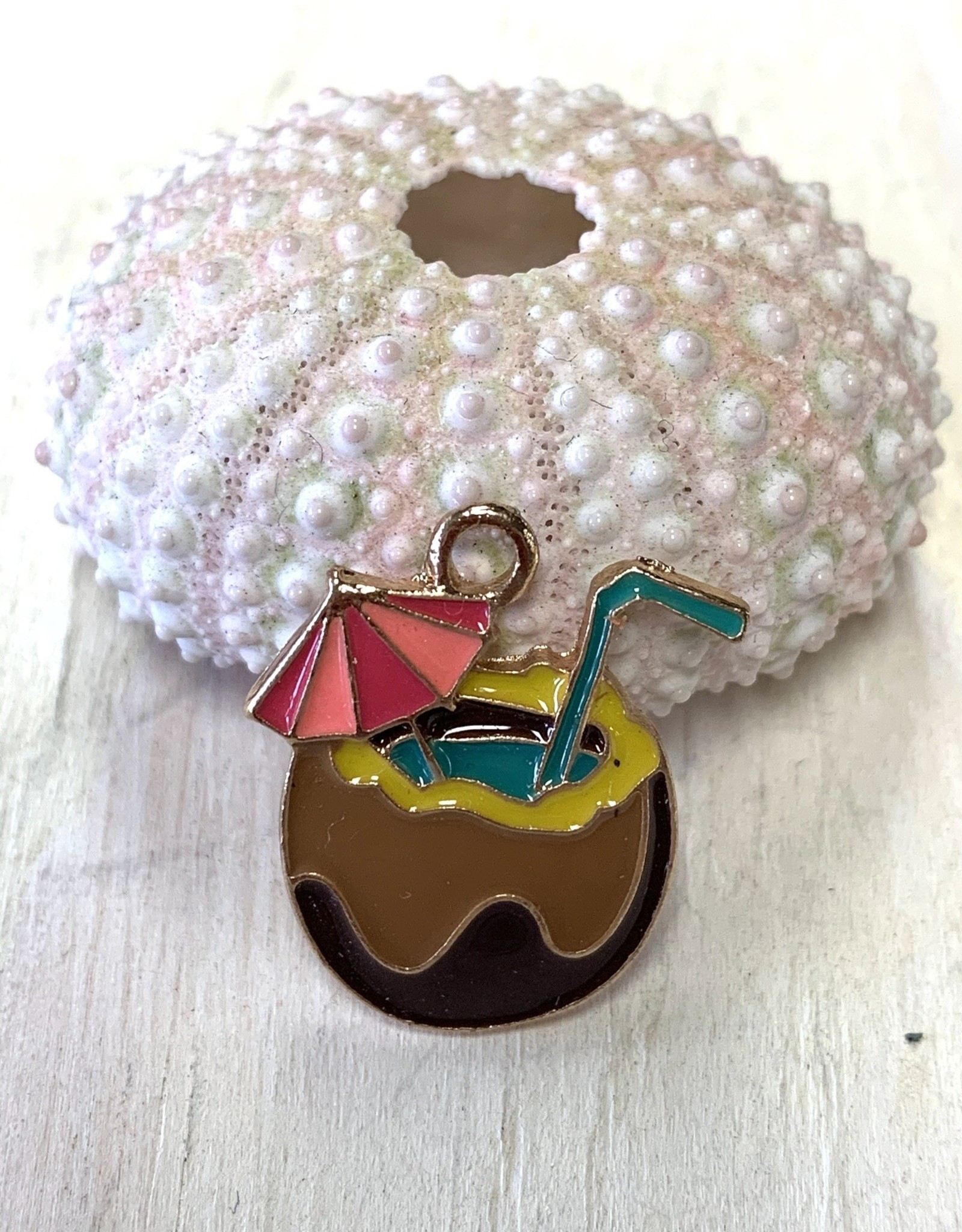 Tropical Drink Enamel Charm ea
