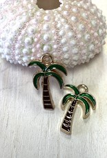 Palm Tree Enamel Charm ea