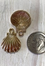 20mm Sunrise Shell Charm Gold Plated ea