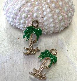 Coconut Tree Green Enamel Charm ea