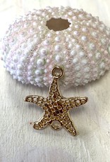 Starfish Filigree Charm Connector Gold Plated ea