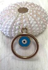 Evil Eye Gold Plated Charm ea