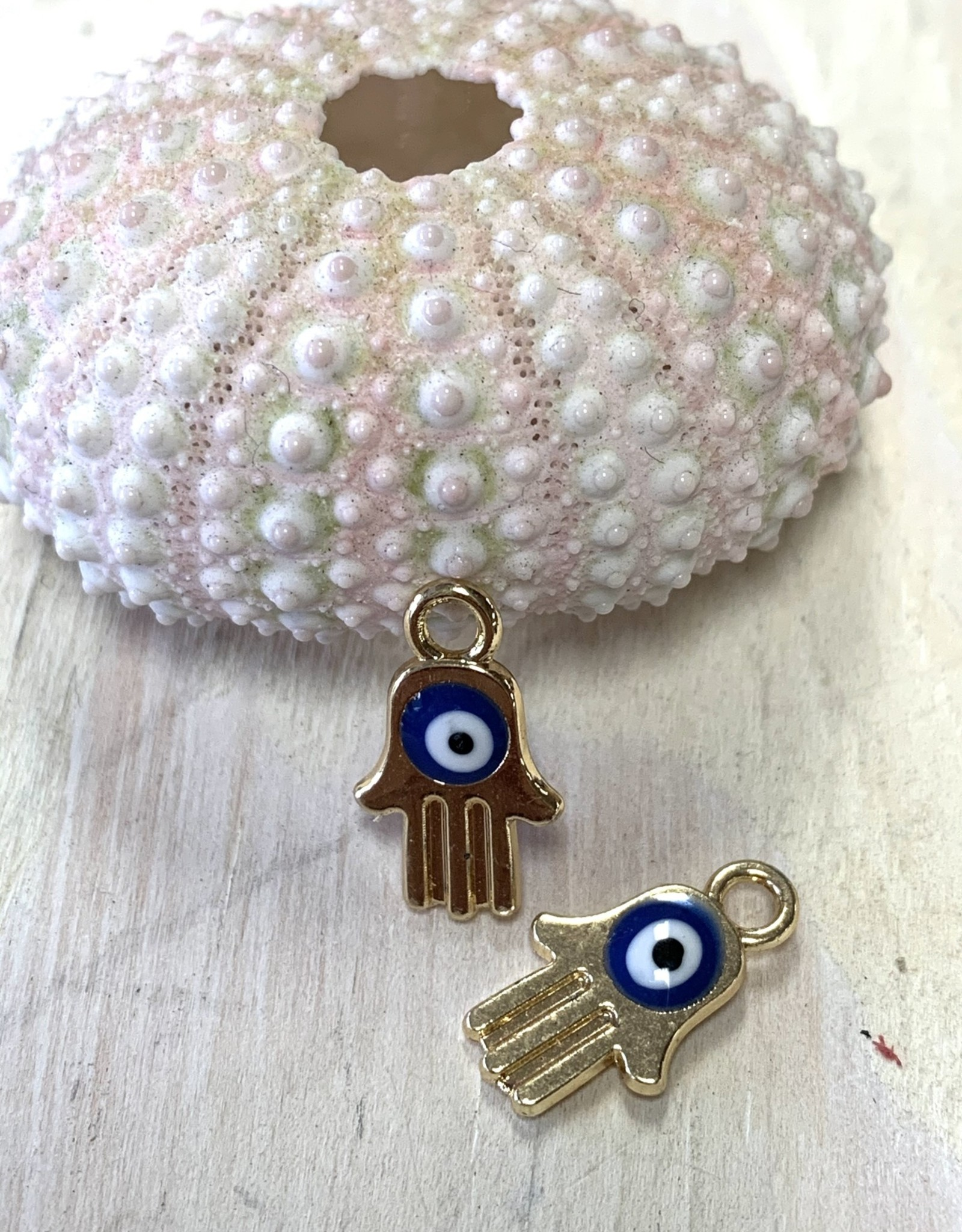 Hamsa Hand Evil Eye Gold Plated Charm