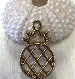 Large Pineapple Charm Gold Plated ea