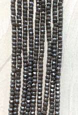 3mm Gray Gem Show Crystal Roundel Strand