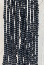 3mm Black Matte Gem Show Crystal Roundel Strand