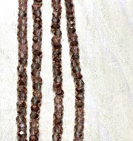 3mm Copper Sparkle Gem Show Crystal Roundel Strand