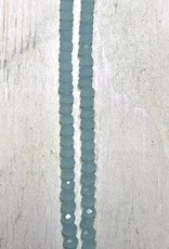 3mm Chalcedony Green Gem Show Crystal Roundel Strand