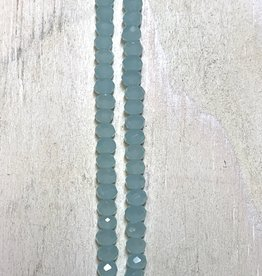 3mm Chalcedony Green Gem Show Crystal Roundel Strand
