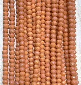 3mm Blush Orange Matte Gem Show Crystal Roundel Strand