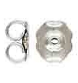 Friction Earnuts, Silver Plated Qty 24