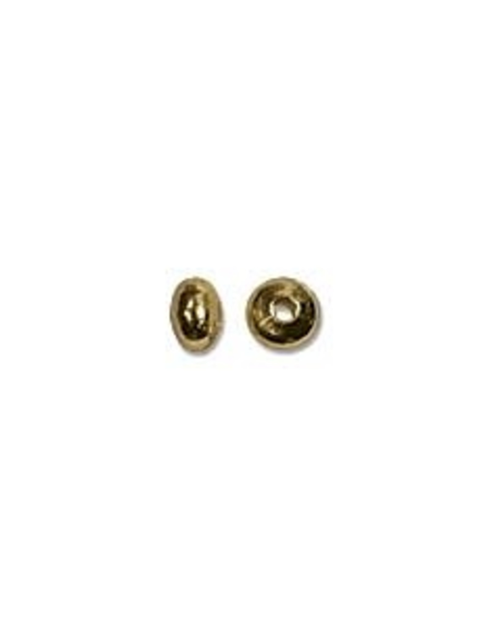 3x2mm Roundels Gold Plated Qty 144