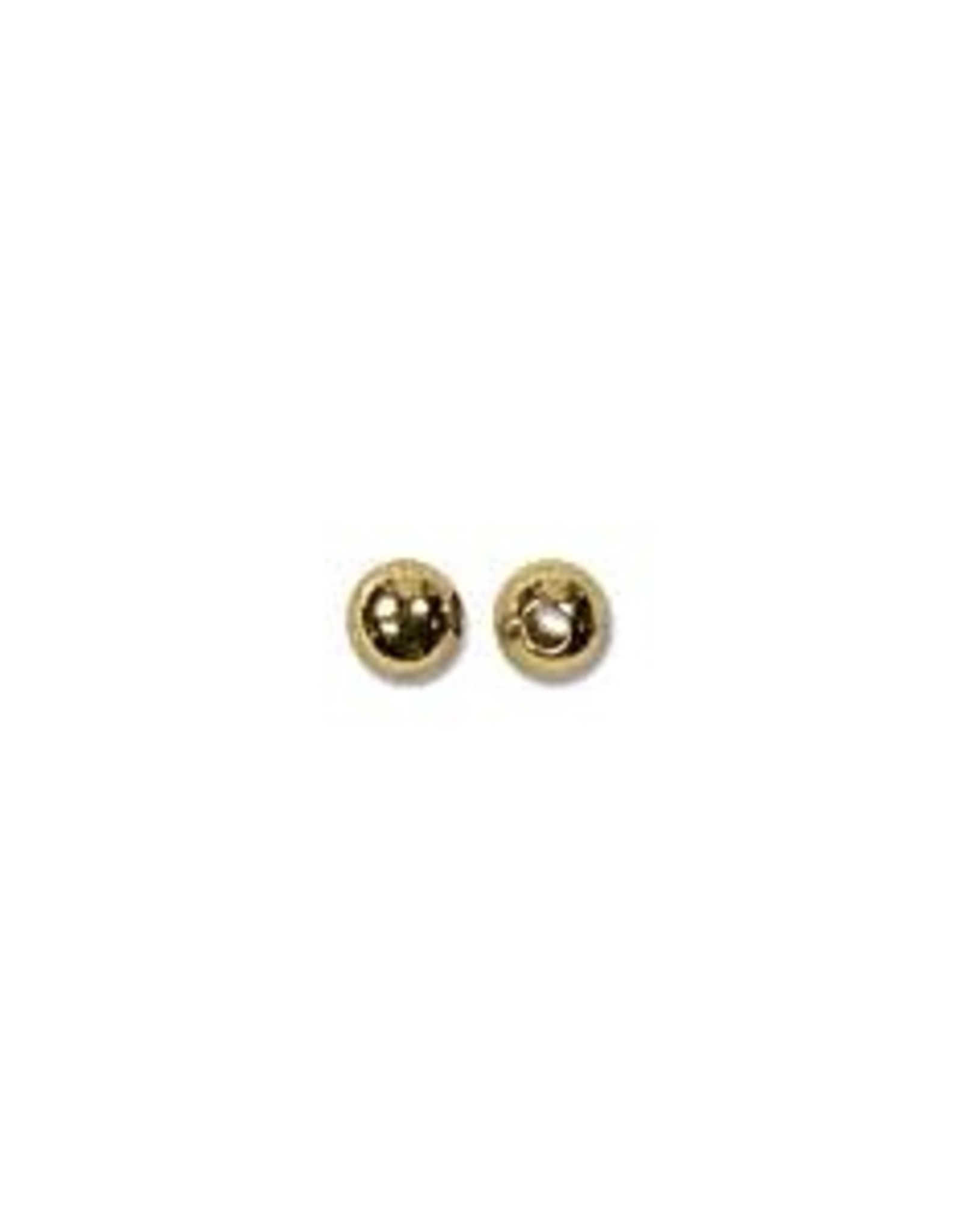 2.4mm Round Bead Gold Plated qty 144