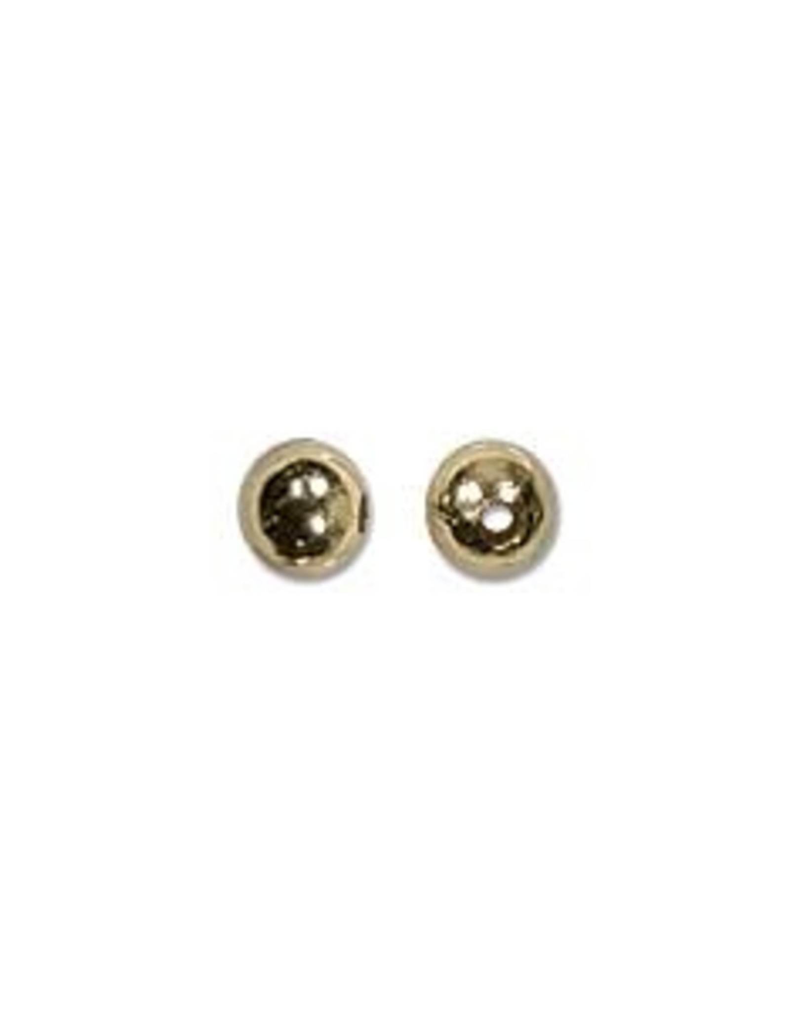 3mm Rounds Gold Plate Qty 24