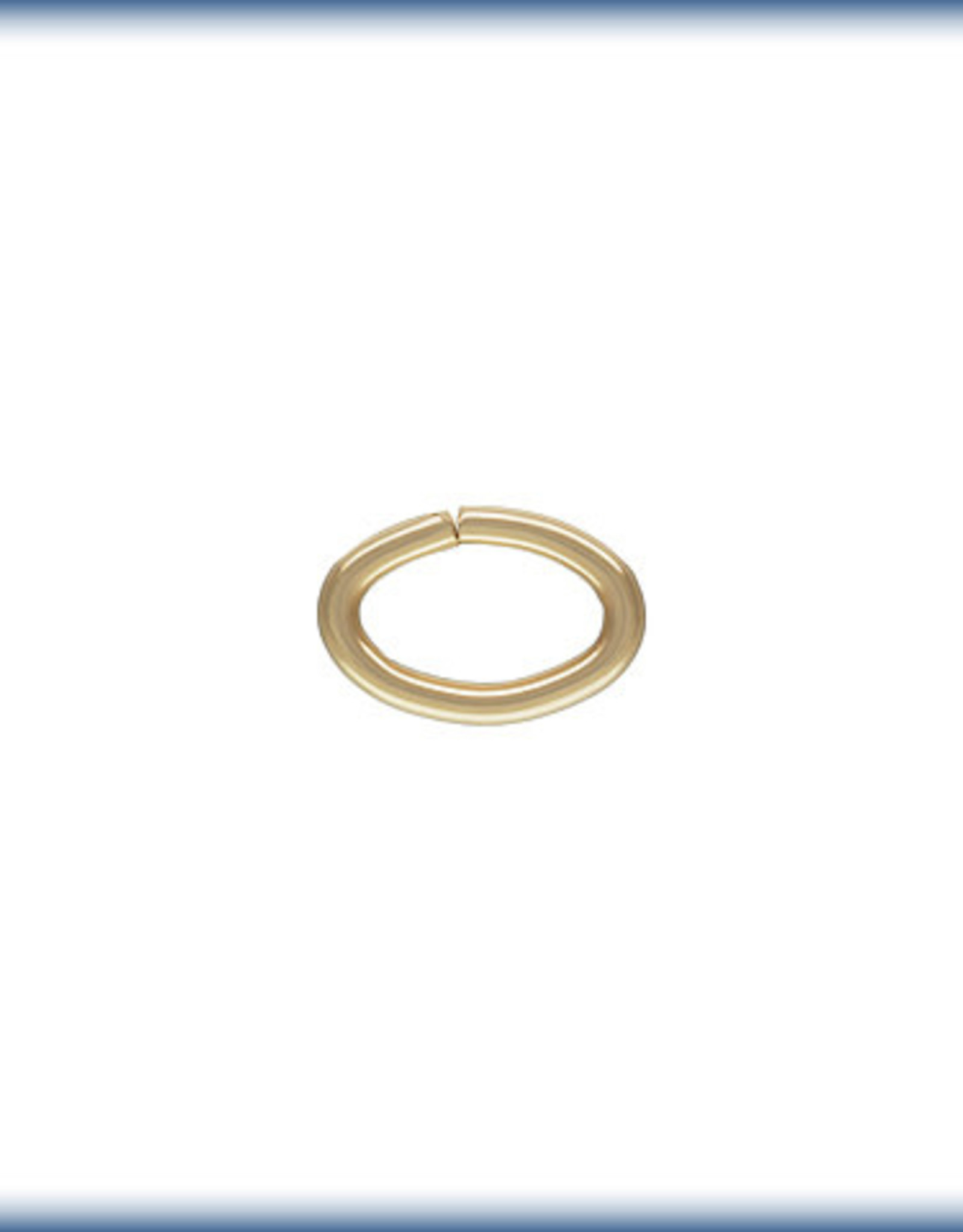 5x7mm Oval Jump Ring 14k Gold Filled Qty 10