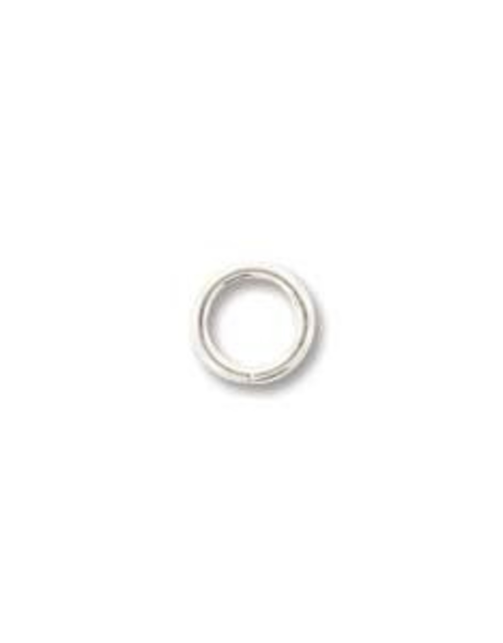 5mm Jumpring 19ga Silver Plated Qty 24