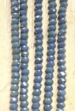 3mm Opaque Lt Blue AB Gem Show Crystal Roundel Strand