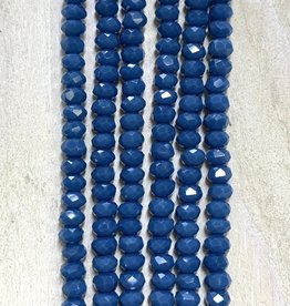 3mm Denim Blue Gem Show Crystal Roundel Strand