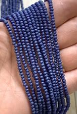 3mm Dark Blue Matte Gem Show Crystal Roundel Strand