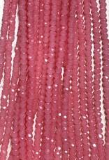 3mm Coral Pink Gem Show Crystal Roundel Strand