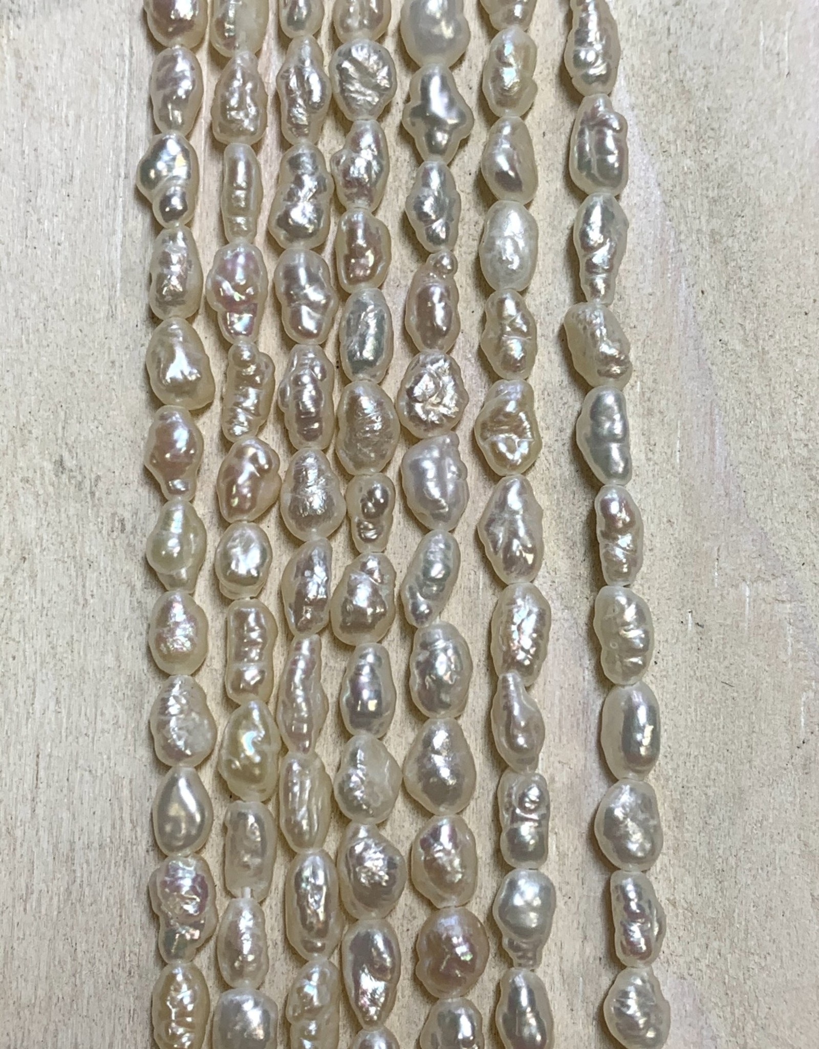 4mm Rice Keshi Pearls Strand