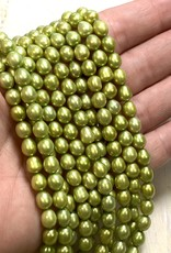Rice Pearls Lime Green Strand