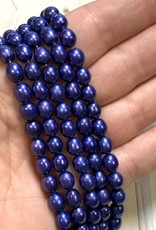 Rice Pearls Violet Strand