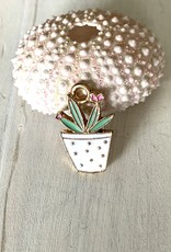 Mixed Plant White Pot Charm ea
