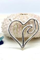 Heart Wave Charm