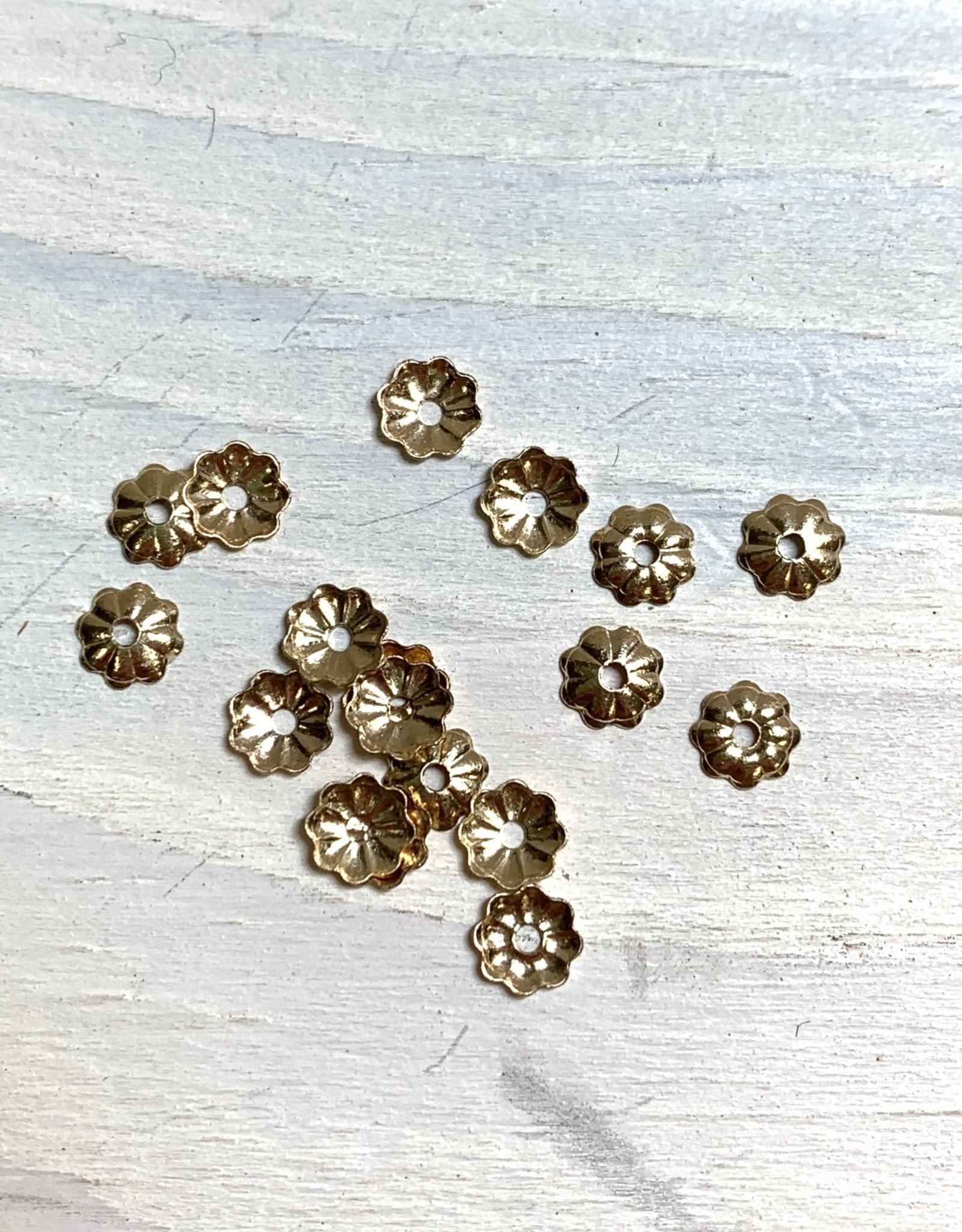4mm Flower Bead Cap, 14k Gold Filled Qty 20