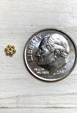 4mm Daisies Gold Vermeil Qty 12
