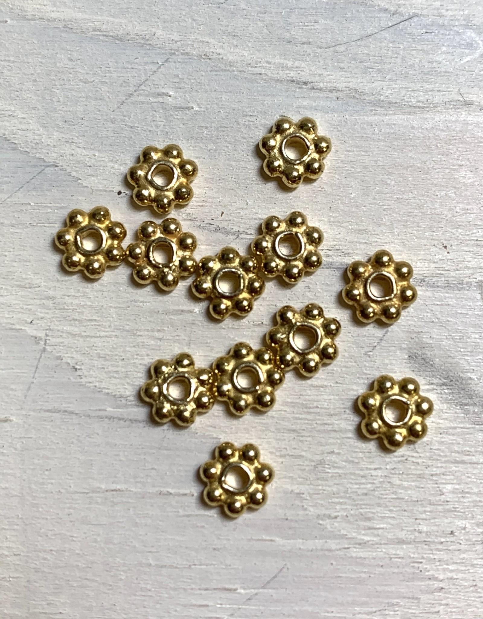 5mm Daisies Gold Vermeil Qty 12