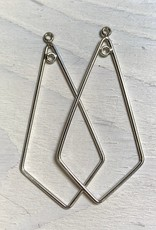 42mm Kite Hoop Sterling Silver pair