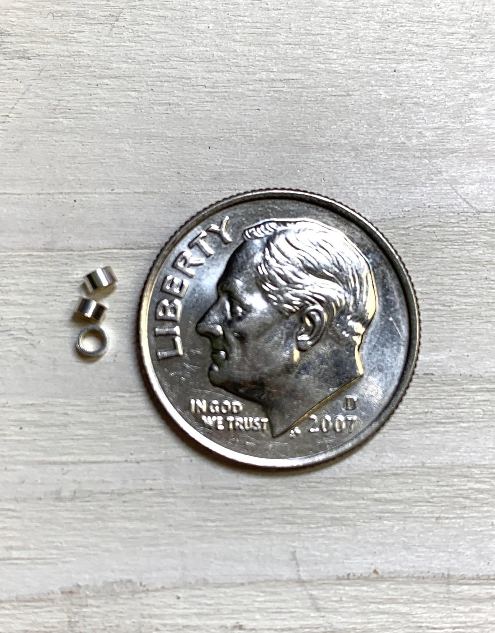 2x1mm Crimp Tubes Sterling Silver Qty 25