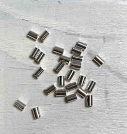 3x2mm Crimp Tubes Sterling Silver Qty 25