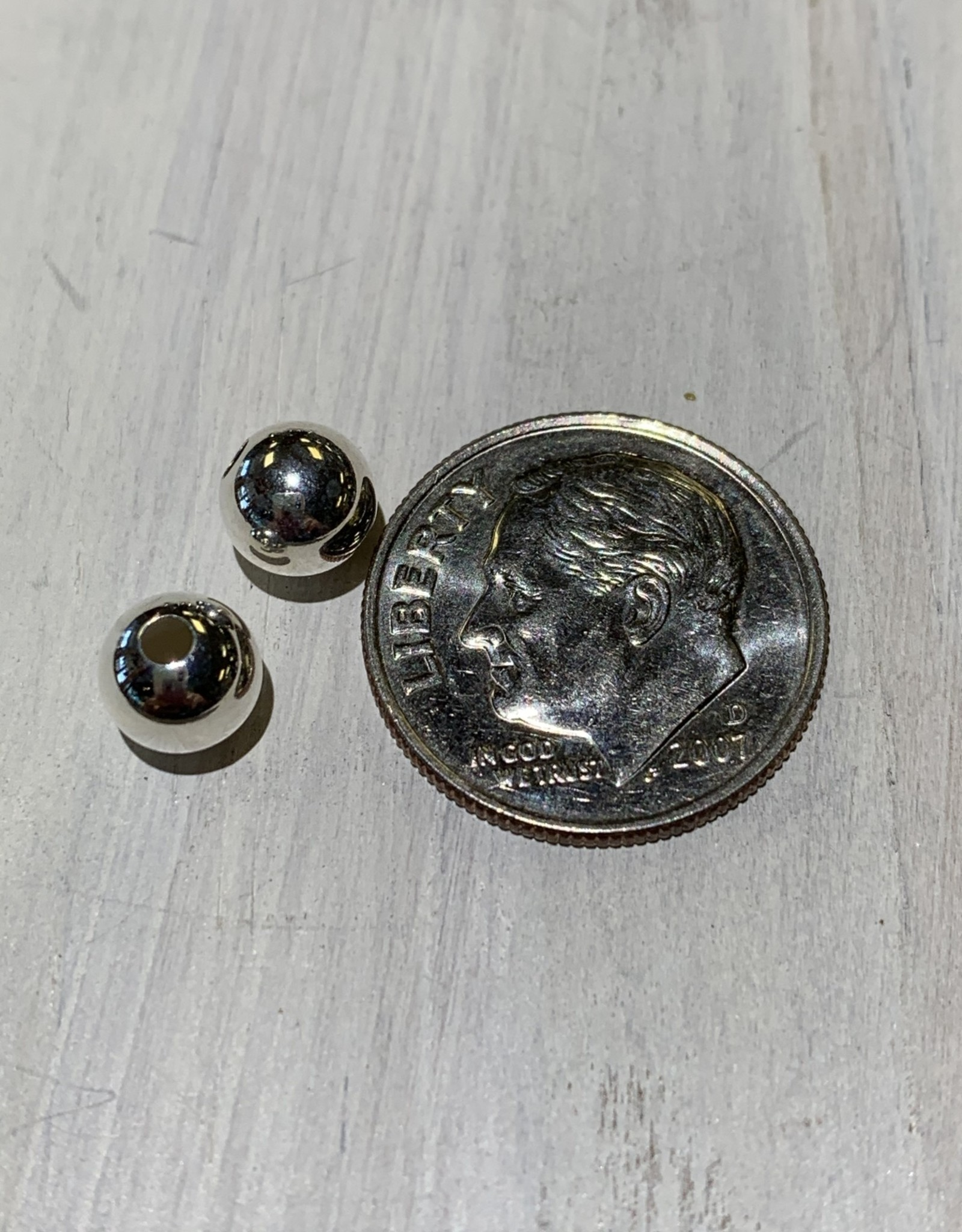 6mm Rounds Sterling Silver Qty 10