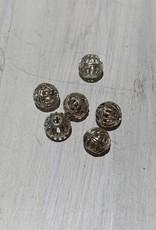 6mm Filigree Bead Sterling Silver Qty 6
