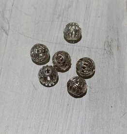 6mm Filigree Bead Sterling Silver Qty 6