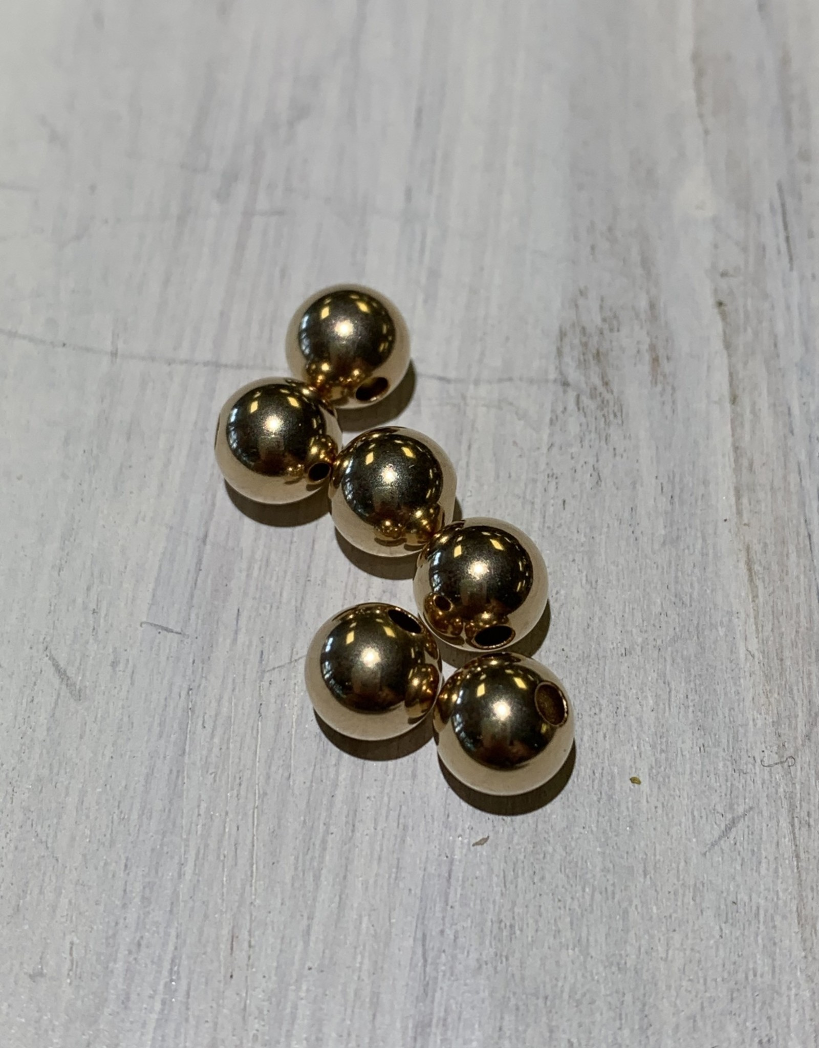 6mm Rounds 14k Gold Filled Qty 5