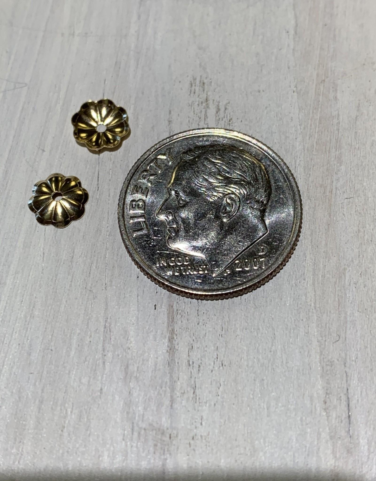 6mm Bead Cap 14k Gold Filled Qty 6