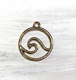 Wave Pendant Gold Plated