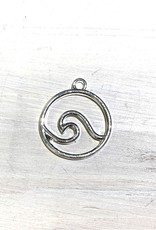 Wave Pendant Silver Plated
