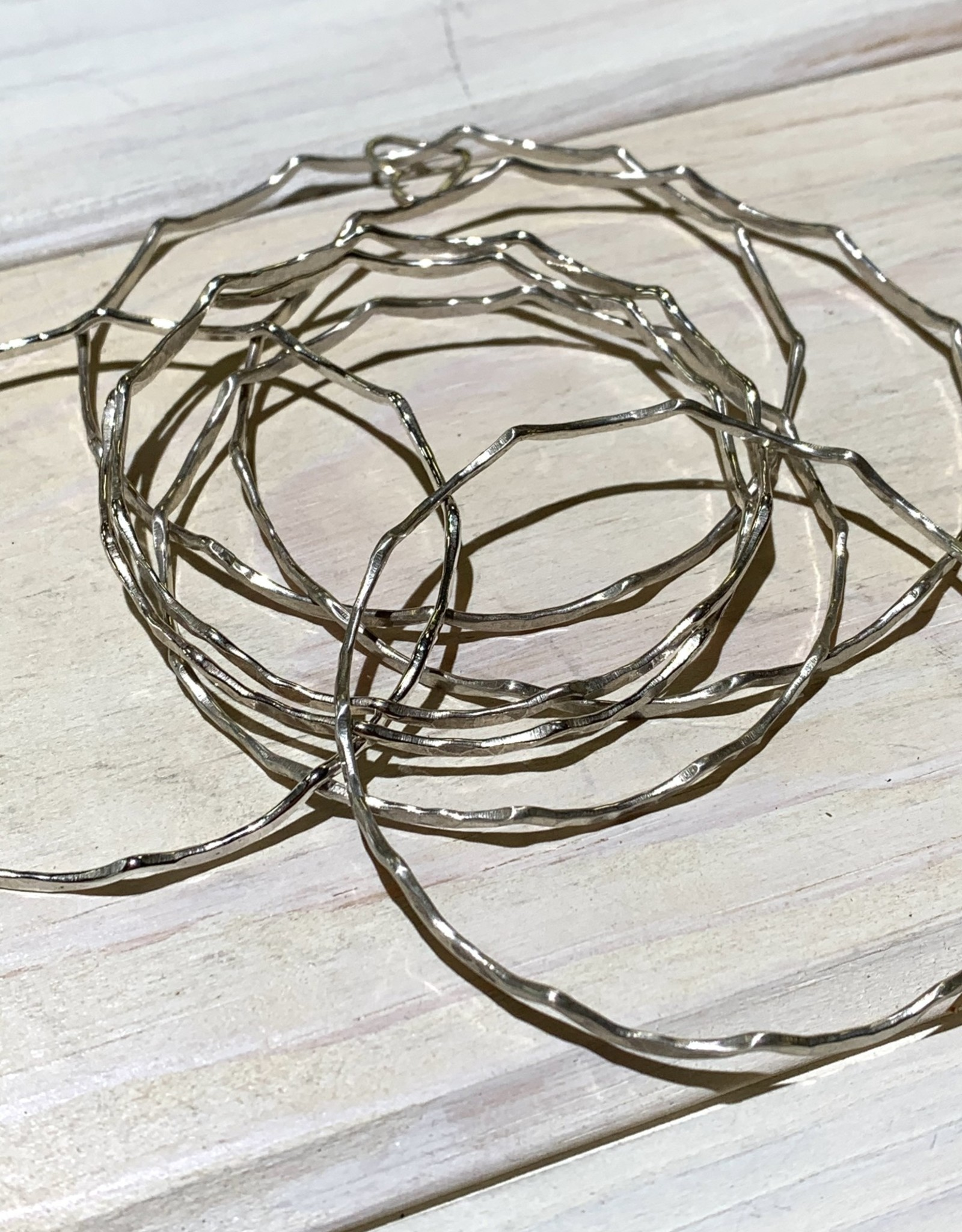 Bangle Mermaid 14ga Round Wire Sterling Silver ea