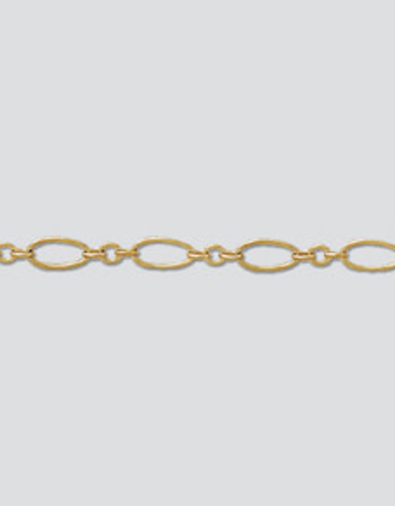 Oval Long & Short Chain 14k Gold Filled Inch