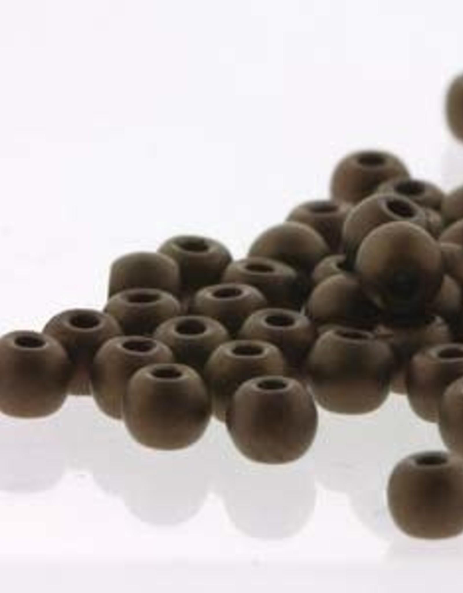 2mm Round Druk Beads Dark Bronze  Matt Qty 50