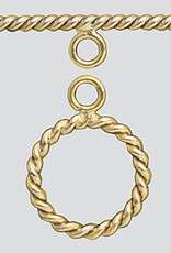 11mm Twist Toggle 14k Gold Filled ea
