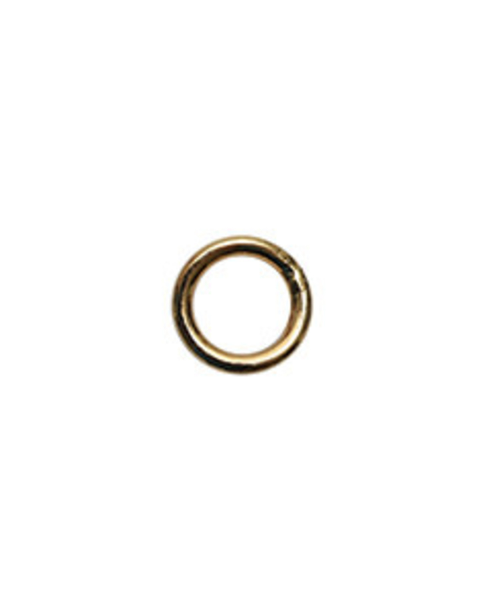 6mm Closed Ring 19ga Gold Plate Qty 24
